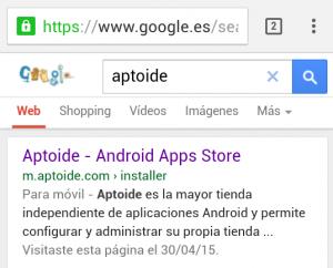 descargar aptoide google