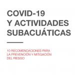 Prevención del riesgo de CORONAVIRUS en actividades subacuáticas